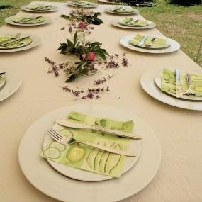 Ein schön gedeckter Tisch - der Hunger naht!