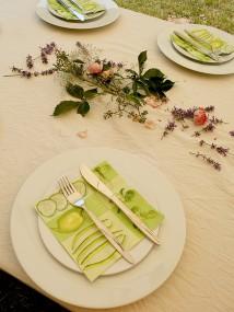 Rose und Lavendel verschönern das Ambiente