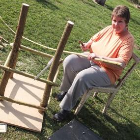 Jetzt der Sitz – viele Teile werden gebraucht