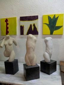 Skulptur und Malerei