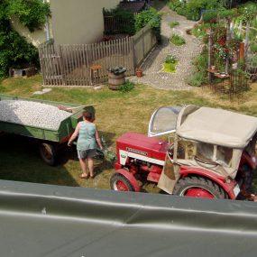 Dach-Baumaterial (Split für die Drainage)