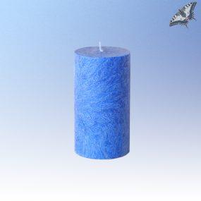 Stearinkerze blau Höhe 90 mm