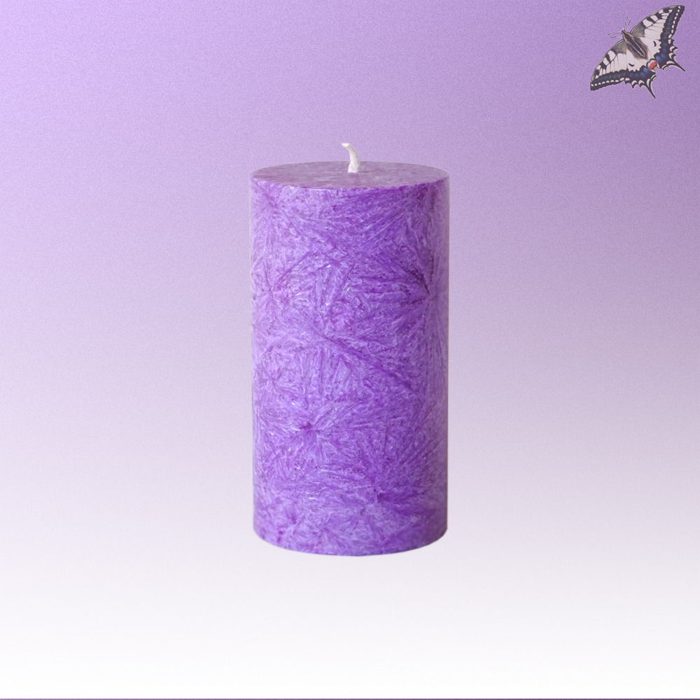 Stearinkerze Violett