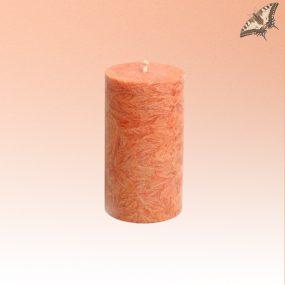 Stearinkerze orange 90 mm