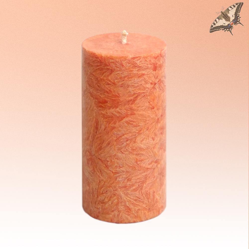 Stearinkerze Orange Höhe 135 mm