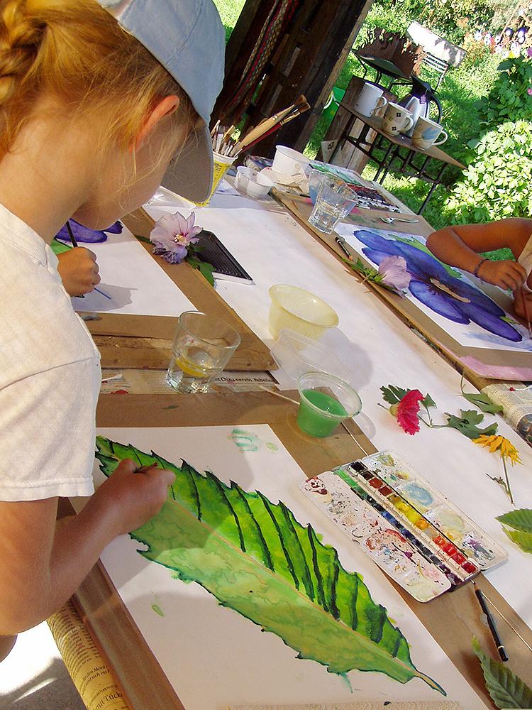 Kinderferienprogramm - Malen in der Natur