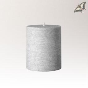 Stearinkerze 64 x 75 mm - Grau
