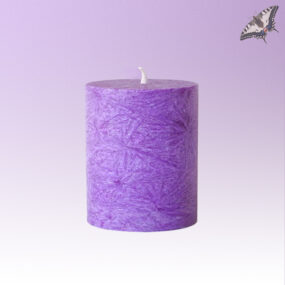 Stearinkerze 64 x 75 mm - Violett